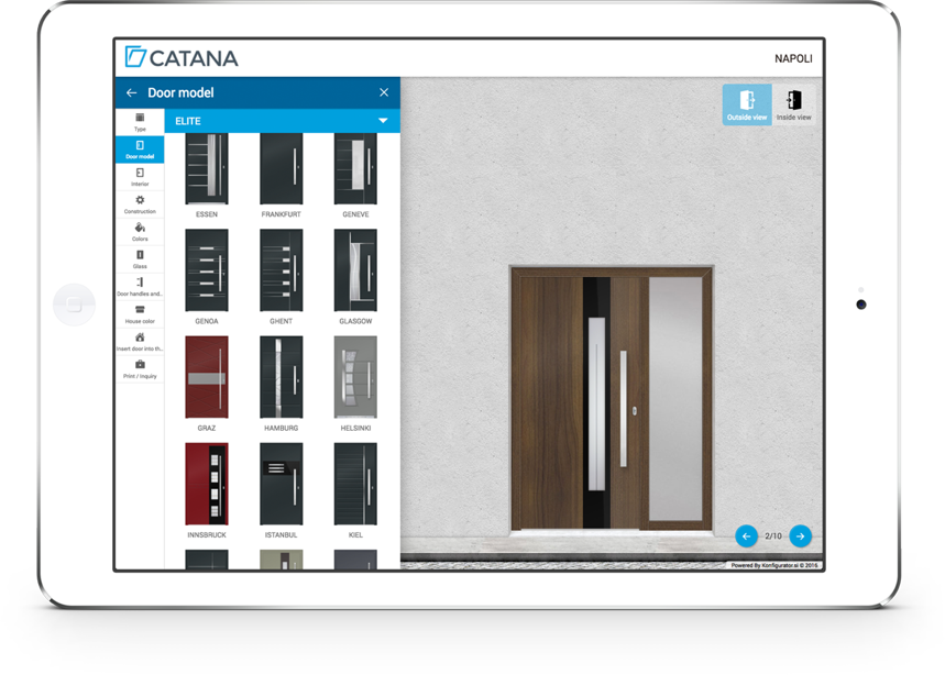 configurator tablet  sc 1 st  Catana Window or Door & European Tilt and Turn Windows and Doors | Front Entry Doors ...
